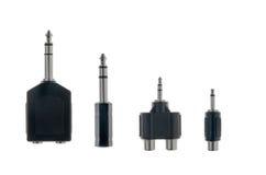 Adaptadores de plugue audio Imagem de Stock