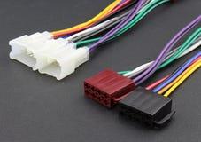 Adaptateur audio de câble de voiture Images libres de droits