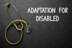 Adaptation For Disabled on Chalkboard. 3D Illustration. Royalty Free Stock Photos