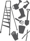 Adaptations And Tools For Work In A Garden And Car Stock Images