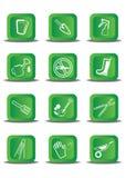 Adaptations et outils pour le travail dans un jardin et un véhicule Photo stock