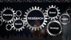 Adapte con la palabra clave, planeamiento, Social, marca, penetración, estrategia, pantalla táctil del hombre de negocios 'INVEST stock de ilustración
