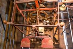 Adapte el reloj gigante, campana, Chioggia, Italia, agosto de 2016 Imagen de archivo libre de regalías