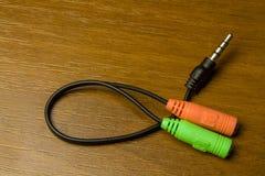 Adapter-Audio-Kabel Stockfotos