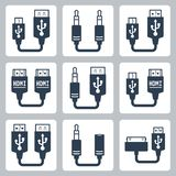 Adapter connectors vector icons royalty free illustration