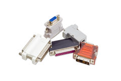 Adapter für Computertechnologie auf einem hellen Hintergrund Stockfoto