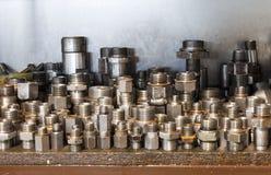 Adapter für hydraulische Schläuche Stockfoto