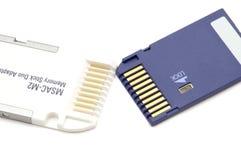 Adapter für Speichersteuerknüppelduo Stockfoto