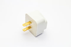 Adapter plug. An isolated Adapter plug on white background Stock Photo