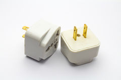 Adapter plug. An isolated Adapter plug on white background Royalty Free Stock Photo