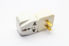 Adapter plug. An isolated Adapter plug on white background Royalty Free Stock Photos