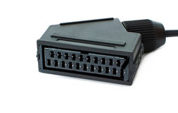 Adapter SCART für Multimediaplayback Lizenzfreie Stockfotografie