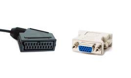Adapter SCART und DVI Lizenzfreies Stockbild