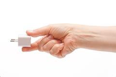 adapter som är elektrisk till usb Fotografering för Bildbyråer