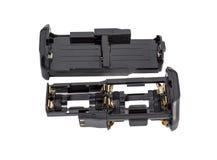 Adapterbatterien AA und Li-PO für die Batterie greifen modernes DSLR Stockfotografie