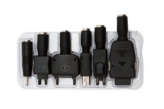 Adapters for a mobile phone Royalty Free Stock Photos