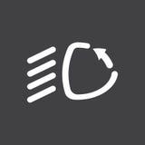 Adaptive headlights icon. Car dashboard icon. Vector illustration royalty free illustration