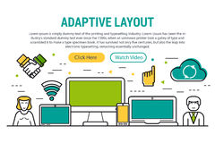 ADAPTIVE LAYOUT - rectangular site header Stock Photos