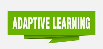 Adaptive learning. Sign.  paper origami speech bubble.  tag.  banner royalty free illustration