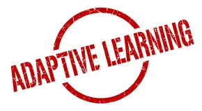 Adaptive learning stamp. Adaptive learning round grunge stamp. adaptive learning sign. adaptive learning vector illustration