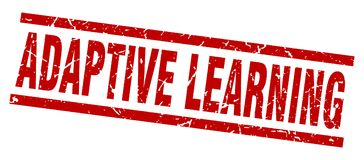 Adaptive learning stamp. Adaptive learning grunge vintage stamp isolated on white background. adaptive learning. sign royalty free illustration