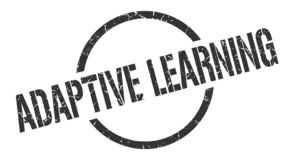 Adaptive learning stamp. Adaptive learning round grunge stamp. adaptive learning sign. adaptive learning royalty free illustration