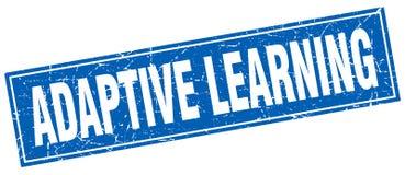 Adaptive learning stamp. Adaptive learning square grunge stamp. adaptive learning sign. adaptive learning royalty free illustration