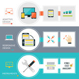 Adaptive Responsive Web Design Banner Set Royalty Free Stock Photos