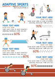 Adaptive sport infographic Stock Photography