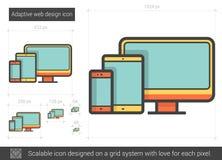 Adaptive web design line icon. Adaptive web design vector line icon on white background. Adaptive web design line icon for infographic, website or app. Scalable vector illustration