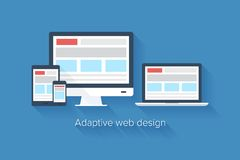 Adaptive web design Royalty Free Stock Images