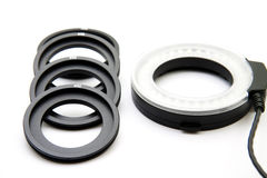 Adaptor rings for ring flash and objective royalty free stock images