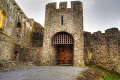 adare城堡门hdr 免版税库存照片
