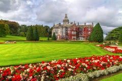 在红色常春藤的Adare庭院和城堡 免版税库存图片