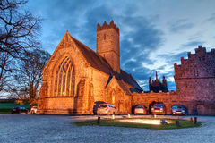 Adare abbey at night. In Co. Limerick, Ireland Stock Photo