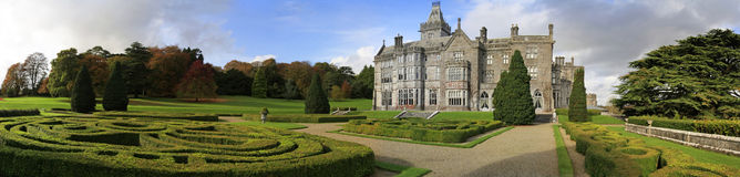Adare castle and gardens. Adare castle hotel with gardens panoramic Royalty Free Stock Photos