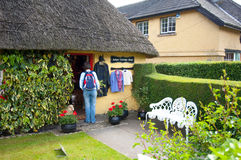 Adare Cottage shop. Shoppers in the picturesque Village of Adare, Co. Limerick Stock Images