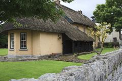 House with a thatched roof. Adare Ireland, - July 20, 2016: House with a thatched roof, Adare, County Limerick, Ireland Stock Photography