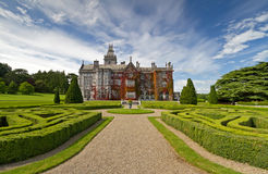 Adare manor in red ivy. And gardens in Ireland Royalty Free Stock Photos
