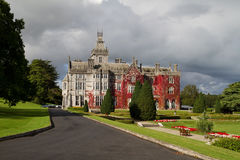 Adare mansion. In red ivy in Ireland Stock Images