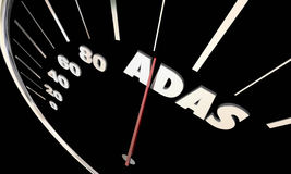 ADAS Advanced Driver Assistance Systems Speedometer stock illustration