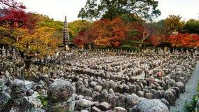Adashino nenbutsuji at autumn, Arashiyama Stock Photo