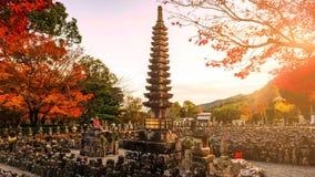 Adashino Nenbutsuji im Herbst, Arashiyama Stockfoto