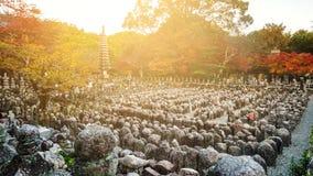 Adashino nenbutsuji at sunset, Arashiyama Royalty Free Stock Photography