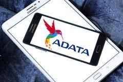 ADATA Technology company logo. Logo of ADATA Technology company on samsung mobile. ADATA is a Taiwanese memory and storage manufacturer Stock Photos