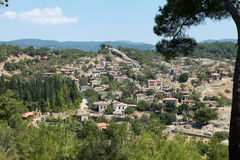 Adatepe Village in Kucukkuyu, Canakkale. Royalty Free Stock Images