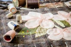 Adattamento degli accessori di hobby Corredo di cucito del mestiere, imbottente fotografie stock libere da diritti
