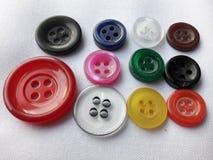 Adattamento dei bottoni matirial di colore di mullti fotografia stock libera da diritti
