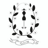 Adattamento dell'emblema con il manichino o il manichino Immagine Stock Libera da Diritti