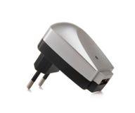 Adattatore elettrico alla porta del USB fotografia stock